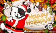 Spike Chunsoft Monokuma and Monokumarz Happy Holidays Card