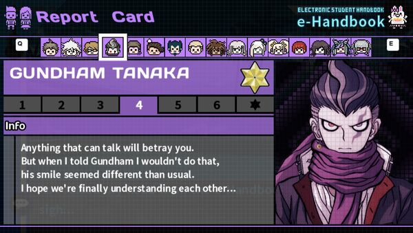 Gundham Tanaka's Report Card Page 4