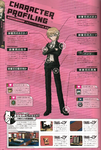 Danganronpa 1 Byakuya Togami Character Design Profile Danganronpa 1.2 Art Book
