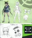Art Book Scan Danganronpa V3 Tenko Chabashira Designs