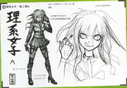 Art Book Scan Danganronpa V3 Character Designs Betas Miu Iruma (3)