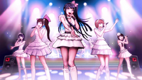 Sayaka performin with her group