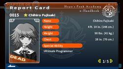 Chihiro Fujisaki's Report Card (Deceased)