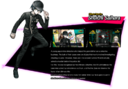 Shuichi Saihara Danganronpa V3 Official English Website Profile (Grandfather Error)