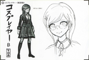 Art Book Scan Danganronpa V3 Character Designs Betas Tsumugi Shirogane (5)