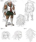 Danganronpa 1 Character Design Profile 1.2 Reload Artbook Sakura Ogami