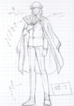 Danganronpa 3 - Character Profiles - SHSL Shougi Player (Sketches)