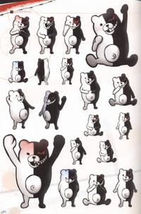 Danganronpa Visual Fanbook Monokuma Profile 03