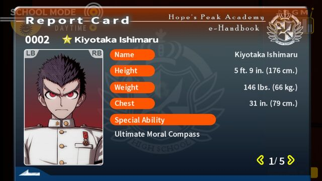 File:Kiyotaka Ishimaru Report Card Page 1.jpg