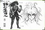 Art Book Scan Danganronpa V3 Character Designs Betas Gonta Gokuhara (2)