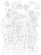Danganronpa 3 - Lerche Twitter Sketches - Future Arc Group 1