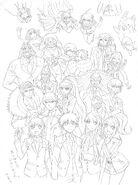Danganronpa 3 - Lerche Twitter Sketches - Future Arc Group 1