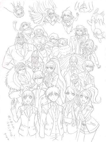 File:Danganronpa 3 - Lerche Twitter Sketches - Future Arc Group 1.jpg