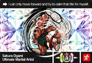 Danganronpa V3 Bonus Mode Card Sakura Ogami U ENG