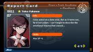 Toko Fukawa Report Card Page 4