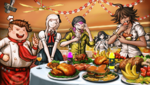 Danganronpa 2 CG - Everyone at the party