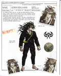 Danganronpa V3 - Day One Dossier Art Booklet - Gonta Gokuhara