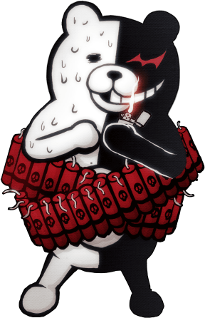 File:Danganronpa 2 Monokuma Fullbody Sprite 16.png