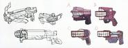 Danganronpa Another Episode Beta Design Kotoko Utsugi Denture Gun