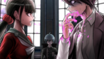 Danganronpa V3 CG - Kaito Momota coughing up blood in front of the others
