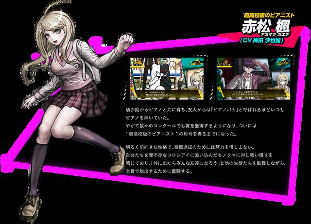File:Kaede Akamatsu Danganronpa V3 Official Japanese Website Profile.png