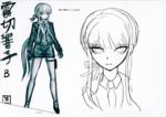 Danganronpa 3 Booklet - Design Sketches - Kyoko Kirigiri