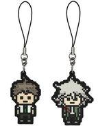 FuRyu Minna no Kuji Dot Rubber Mascots Hajime Hinata and Nagito Komaeda OOB