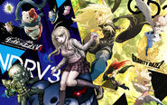 Digital MonoMono Machine New Danganronpa V3 x Gravity Daze 2 PC wallpaper