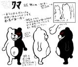 Danganronpa 1 Character Design Profile Monokuma
