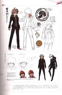 Danganronpa Visual Fanbook Makoto Naegi Profile Page