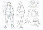 Danganronpa 3 Booklet - Design Sketches - Steering Committee Member (2)