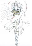 Danganronpa 3 - Character Profiles - Gundham Tanaka (Despair design sketches)