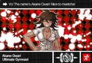 Danganronpa V3 Bonus Mode Card Akane Owari N ENG