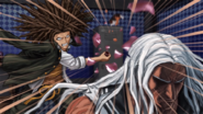 Danganronpa 1 CG - Sakura being attacked by Yasuhiro