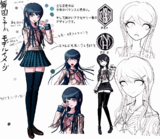 Danganronpa 1 Character Design Profile Sayaka Maizono