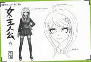 Art Book Scan Danganronpa V3 Character Designs Betas Kaede Akamatsu (3)