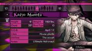 Danganronpa V3 Kaito Momota Report Card (Demo Version)