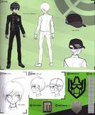 Art Book Scan Danganronpa V3 Shuichi Saihara Designs
