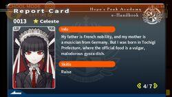 Celestia Ludenberg Report Card Page 4
