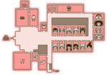 Hope's Peak Map 1F Living Area