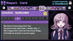 Chiaki Nanami's Report Card Page 3