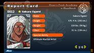 Sakura Ogami Report Card Page 1