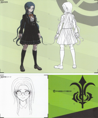 File:Art Book Scan Danganronpa V3 Tsumugi Shirogane Designs.png