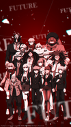 Digital MonoMono Machine Danganronpa 3 Side Future Cast iPhone wallpaper