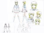 Danganronpa 3 - Character Profiles - Mukuro Ikusaba (Sketches)