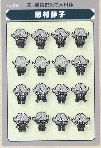 File:Art Book Scan Danganronpa V3 Board Game Mode Pixel Sprites Example.png