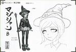 Art Book Scan Danganronpa V3 Character Designs Betas Himiko Yumeno (4)