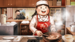 Danganronpa 2 CG - Teruteru Hanamura and his mother