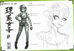 Art Book Scan Danganronpa V3 Character Designs Betas Miu Iruma (2)