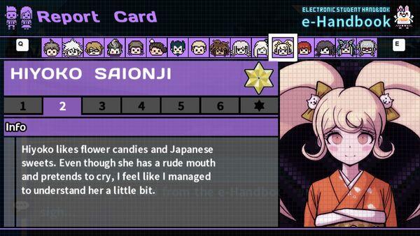 Hiyoko Saionji's Report Card Page 2